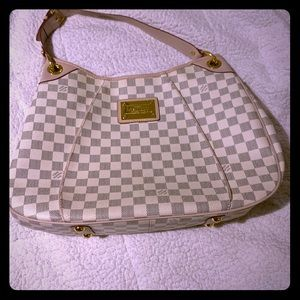 Louis Vuitton Galliera GM Damier Azur Shoulder Bag